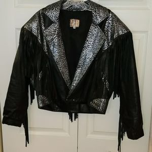 Vintage Leather Biker Jacket sz Medium
